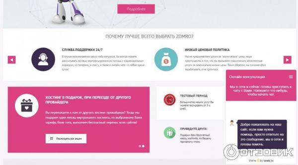 Хостинг zomro отзывы reg.ru хостинг