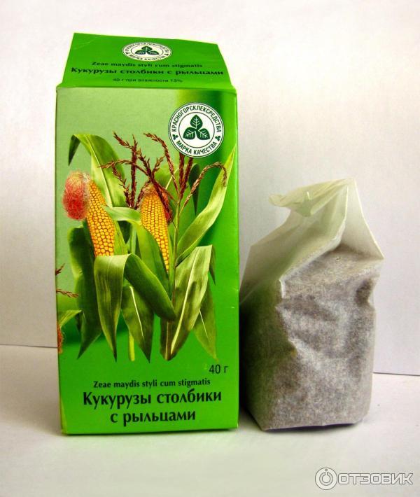 Столбики с рыльцами кукурузы похудение