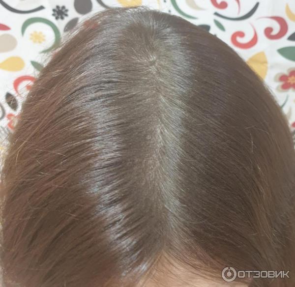Расчесала волосы с пудрой