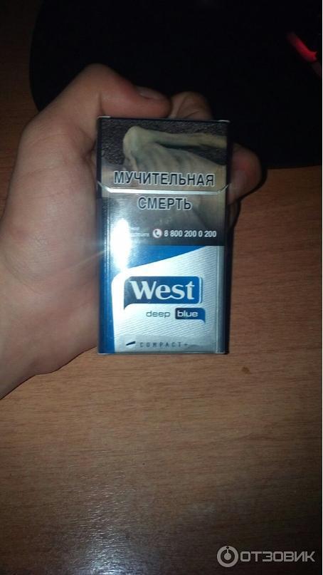 сигареты вест компакт дип блю купить