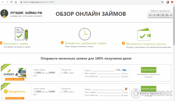 миг кредит онлайн на карту не выходя из дома россия